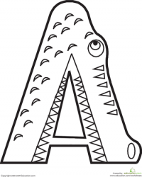 color the alligator letter a educationcom alphabet coloring pages
