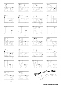Worksheet Printable Alphabet Worksheets A-z ideas for preschoolers alphabet kidstv123 com worksheets