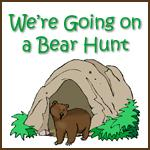 Ideas for preschoolers music movement for Going on a bear hunt coloring pages
